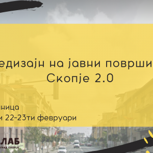 Second cycle of workshops for redesigning of public spaces in Skopje